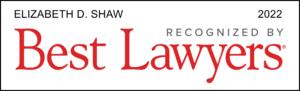 Elizabeth Shaw Best Lawyers Award